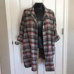 Other - Vintage cotton plaid button down flannel shirt